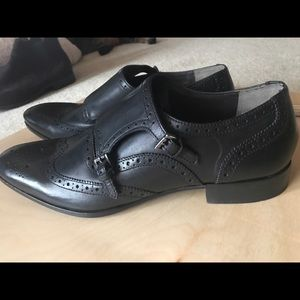 Mens size 12 Giorgio Brutini double buckle shoes